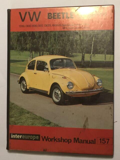 vw beetle 1200 1300 1302s 1500 1600 karmann ghia 181 jeep workshop rh ebay co uk Custom VW Beetle 70 VW Beetle