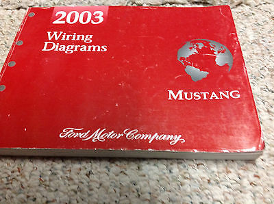 2003 Ford Mustang Electrical Wiring Diagrams Service Shop Manual 03 Book Ebay