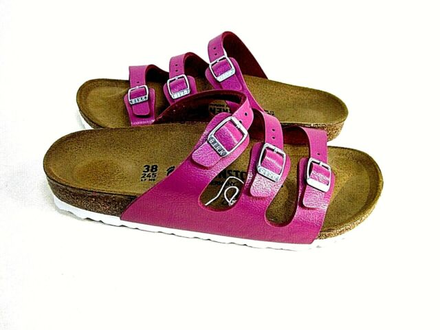 Birkenstock Womens Florida BS Sandals 1008855, Magenta US Size 7, EUR 38, Narrow