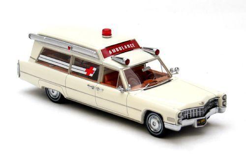 NEO MODELS Cadillac S&S Ambulance 1966 (white) 1 43 43895