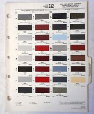1985 FORD MERCURY LINCOLN AND TRUCK PPG COLOR PAINT CHIP CHART ALL  MODELS