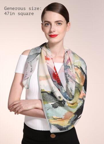 Large 100/% Silk Georgette Scarf Square Scarfs Sheer For Women Silk Shawl Wrap