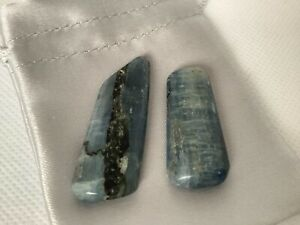 Polished Blue Kyanite Crystal x 2 in Satin Bag. Alignment, Resolve Conflict no2