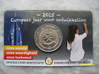 BELGIO 2015 2 EURO COINCARD ANNO EUROPEO DELLO SVILUPPO BELGIUM БЕЛЬГИЯ