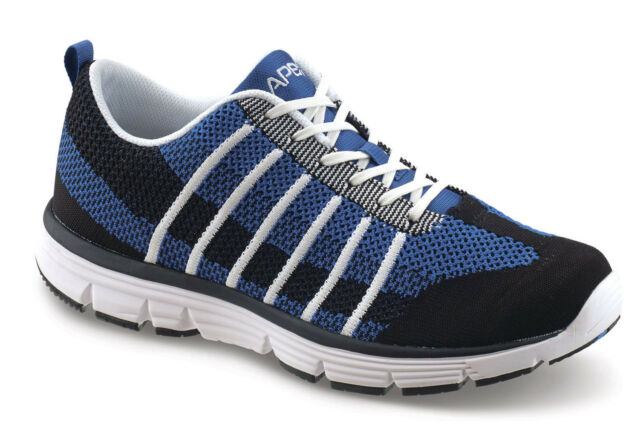 f5a5a6dcfd2d11 Apex Shoes Athletic Knit Lace Up Men's Therapeutic Diabetic Extra Depth Shoe