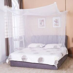 4-Corner-Mosquito-Net-Rectangle-Princess-Lace-Mesh-Poster-Bedding-Canopy-Netting
