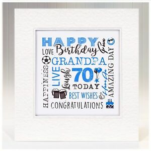 Image Is Loading Handmade Birthday Card Grandad Grandfather 50th 55th 60th
