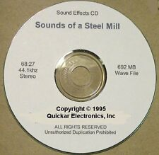 N SCALE SOUNDS OF A STEEL MILL SOUND EFFECTS CD FOR MODEL RAILROADS