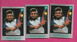 3-X-RARE-ANDRE-AGASSI-TENNIS-PLAYER-MINT-CARD-INV-C3260