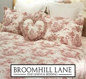Image Is Loading New Luxury 100 Cotton Toile Pink White French