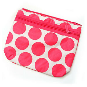 New Thirty one mini zipper pouch organizer wallet black ruffle 31 gift retired