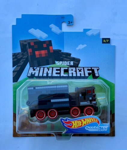 Hot Wheels Character Cars Minecraft Spider Hauler Transport Tow Bed Mob Oem