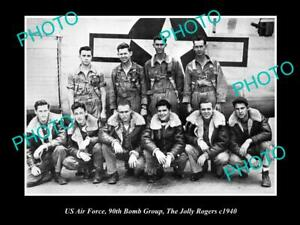 OLD-POSTCARD-SIZE-PHOTO-OF-US-AIR-FORCE-90th-BOMB-GROUP-JOLLY-ROGERS-1940-2