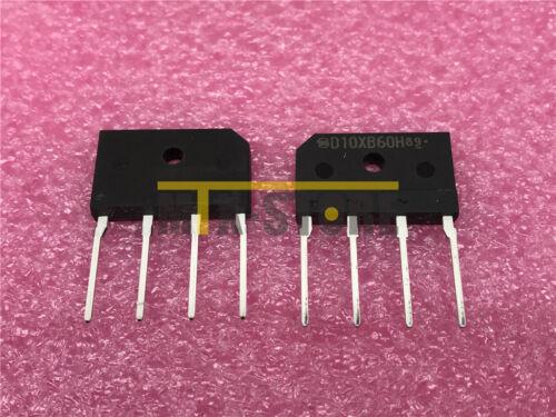 10PCS D10XB60H New Best Offer Bridge Single 600V 2.9A 4-Pin SIP
