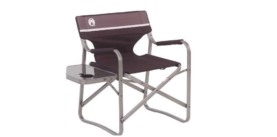 Coleman Acero Tumbona Mesa Plegable Portable Outdoor Travel Camping Nuevo