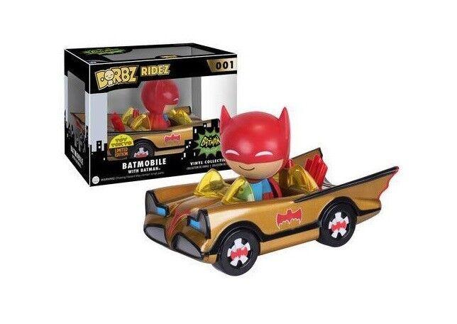 Batman POP Fahrzeug mit Figur Dorbz 1966 Gold Batmobile SDCC 2016 001