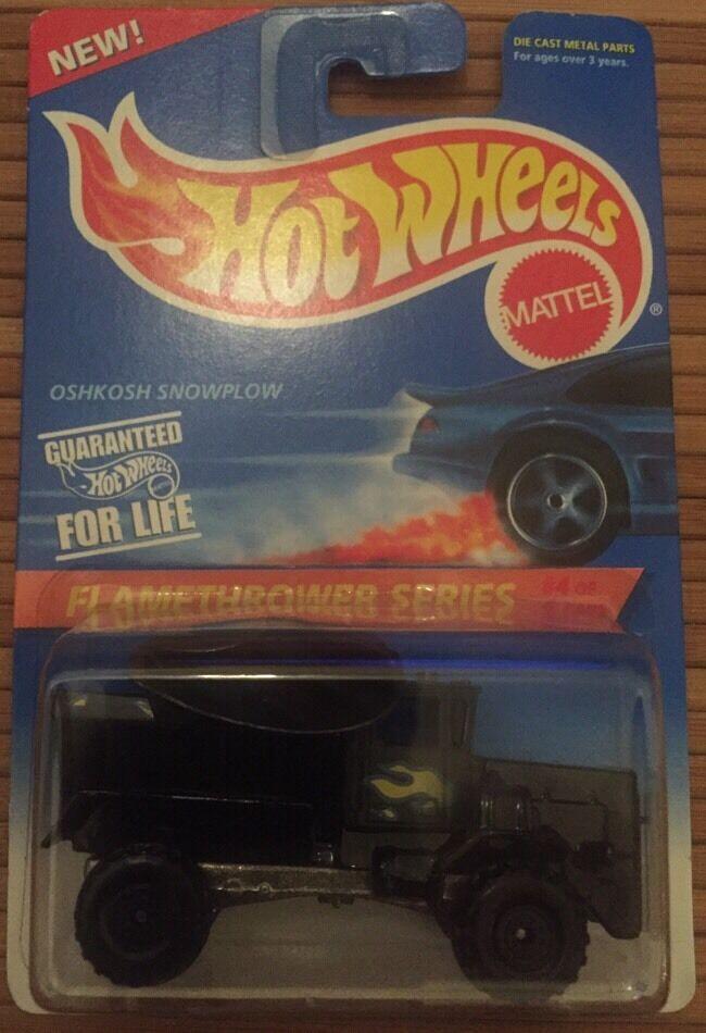 Hot Wheels Flamethrower Series Oshkosh Snowplow 1995
