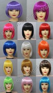 14-Color-Ladies-Fashionable-BOB-style-Short-Party-Fancy-Cosplay-Wigs