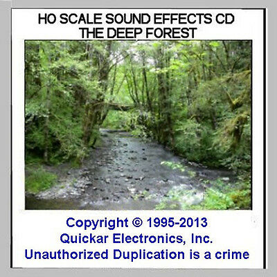 SOUNDS OF THE FOREST SOUND EFFECTS CD FOR HO SCALE MODEL RAILROADS