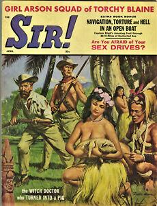 """Sir"" Magazine: April 1961, Men's, Pulp  Sex"