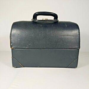 Vintage Doctor Medical Cowhide Bag EMDEE By Schell No. 2293363 Steam Punk Black