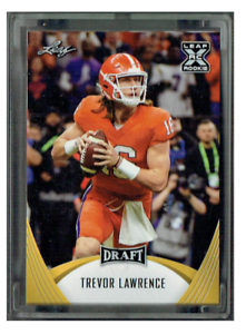 Complete 50 Card 2021 GOLD Leaf Football Set & Trevor Lawrence HYPE Rookie Card