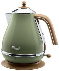 Delonghi Icona Vintage Collection Electric Kettle 1 0l Kbov1200j Gr Olive Green Ebay