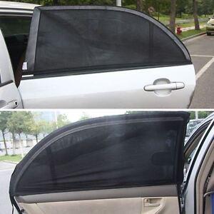 Premium Quality Sun Shades x2 For Rear Car Windows UV Rays Protection UK Stock
