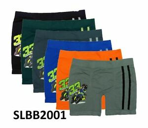Lot of 6 Boys Seamless Boxer Short Kids Underwear Boy Briefs