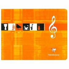 Clairefontaine Music Manuscript Exercise Book A5 Orange Cover 48 Pages