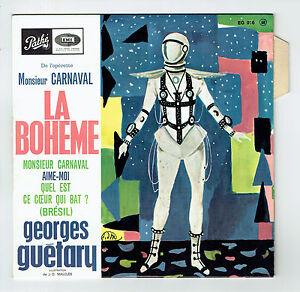 Georges-GUETARY-Vinyl-45T-EP-Operette-Monsieur-CARNAVAL-LA-BOHEME-Languette-RARE