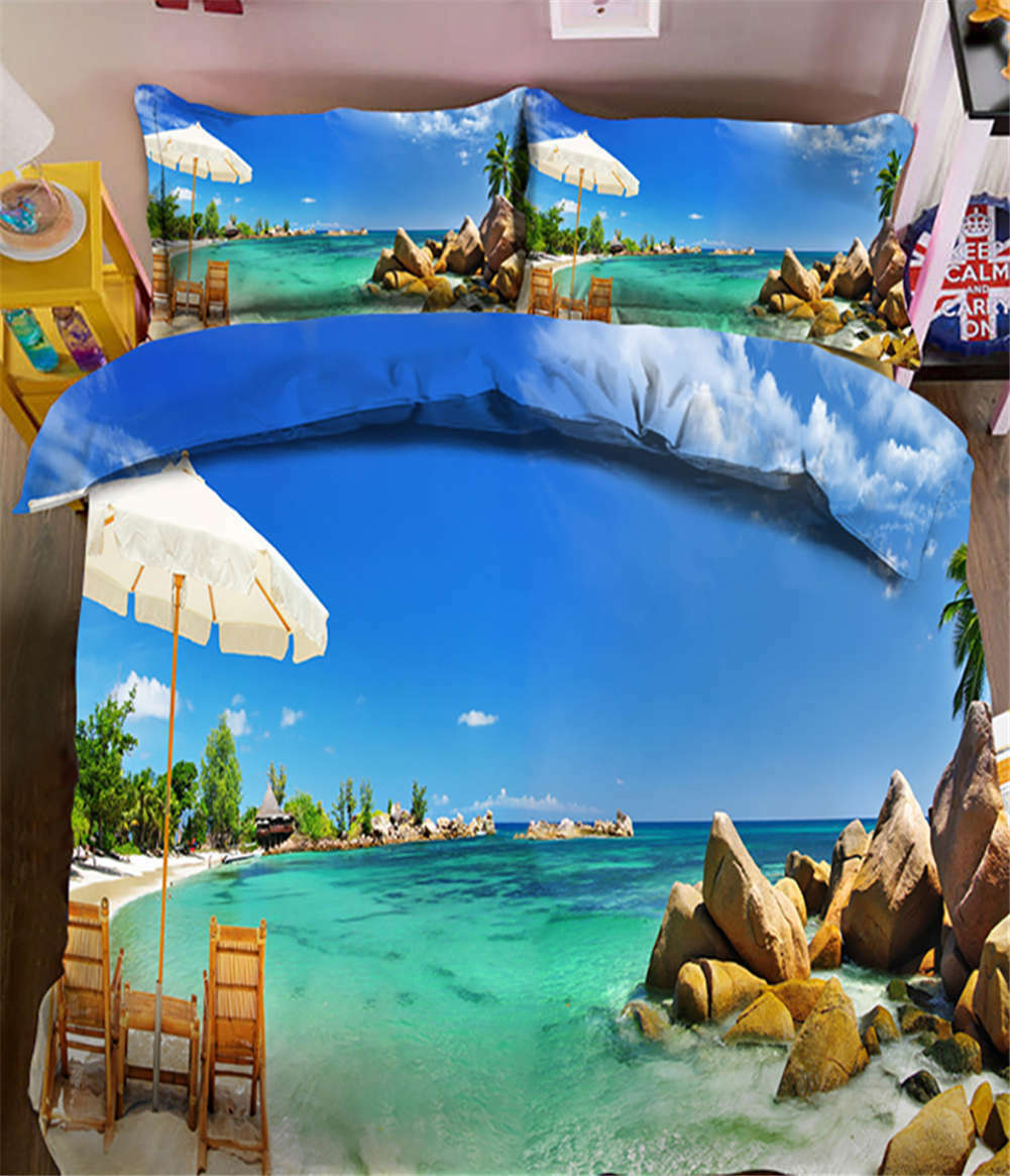 Pleasant Coast 3D Printing Duvet Quilt Doona Covers Pillow Case Bedding Sets