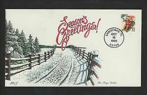 US FDC #3013 Fine Design Cachet HNS Hand Colored / Painted 1996 FL Christmas