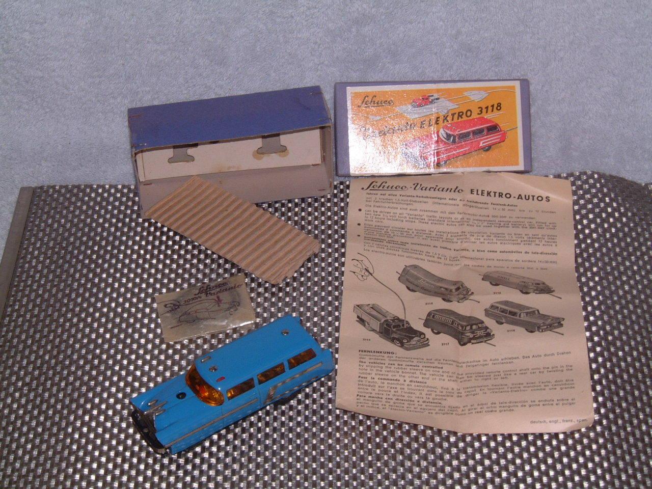 Schuco VARIANTO Elektro Kombi desde 3118   Vintage trabajando con Caja Y Accesorios
