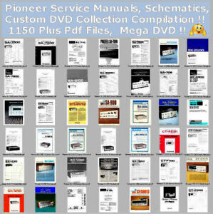 pioneer service manuals schematics custom dvd collection rh ebay com