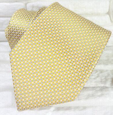Ben Informato Cravatta Oro & Blu Lusso Seta Made In Italy Matrimoni Business Eventi Rp € 39 Imballaggio Di Marca Nominata