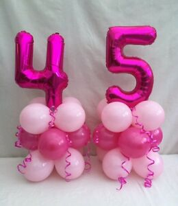 Image Is Loading 45th Birthday Balloon Kit Table Centre Display