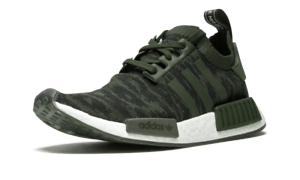 Adidas NMD R1 Primeknit NIGHT CARGO OLIVE GLITCH GREEN WHITE BOOST CQ2445 Men's