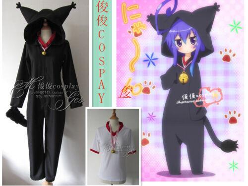 Anime Acchi Kocchi Miniwa Tsumiki Black Cat Jumpsuits Cosplay Costume Unisex