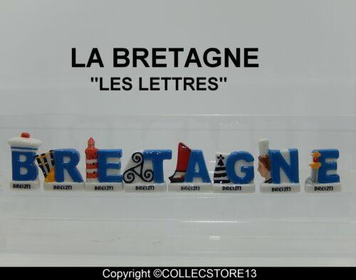 LES LETTRES SERIE COMPLETE DE FEVES LA BRETAGNE