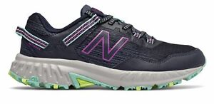 New Balance Women's 410v6 Trail Shoes Navy with Purple & Blue