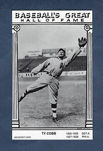 Details About Ty Cobb Tigers An Exhibit Card Baseballs Great Hall Of Fame With Statistics