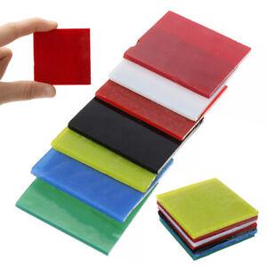 7pcs-52-52-3mm-COE-90-Bullseye-7-Colors-Square-Kiln-Fusing-Glass-Supplies