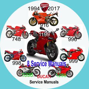 ducati 748 916 996 998 999 1098 1199 1299 service manual 8 manuals rh ebay co uk ducati 998 workshop manual 2002 ducati 998 service manual