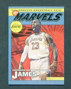 2020-21 Panini Donruss Basketball Lebron James Net Marvels Los Angeles Lakers
