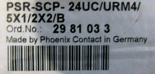 Details about  /NEW PHOENIX CONTACT PSR-SCP-24UC//URM4//5X1//2X2//B EXTENSION MODULE 29-81-03-3