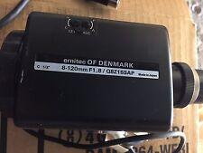 Ernitec Of Denmark,12 x Zoom Lens, 8-120mm F1,8/Q8Z15SAP CCTV JVC Camera