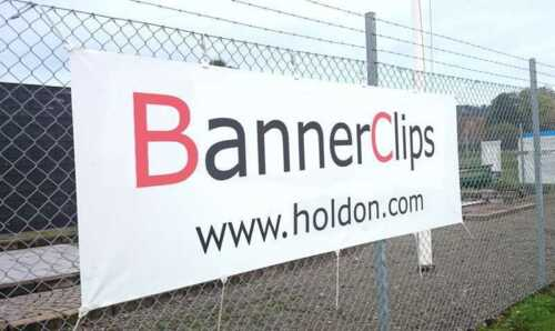10 x Holdon Banner-Planen-Spanner weiss Mini-Clip Spann-Klammer 4 x 3,5 x 1 cm