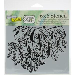 NEW-The-Crafter-039-s-Workshop-Stencils-6-034-x6-034-Sweet-Berries-TCW911s