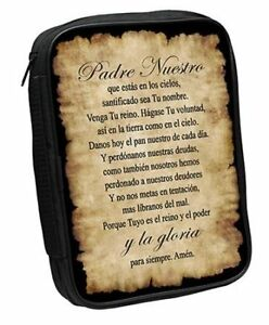 Lord-039-s-Prayer-Bible-Cover-Brown-Spanish-Large